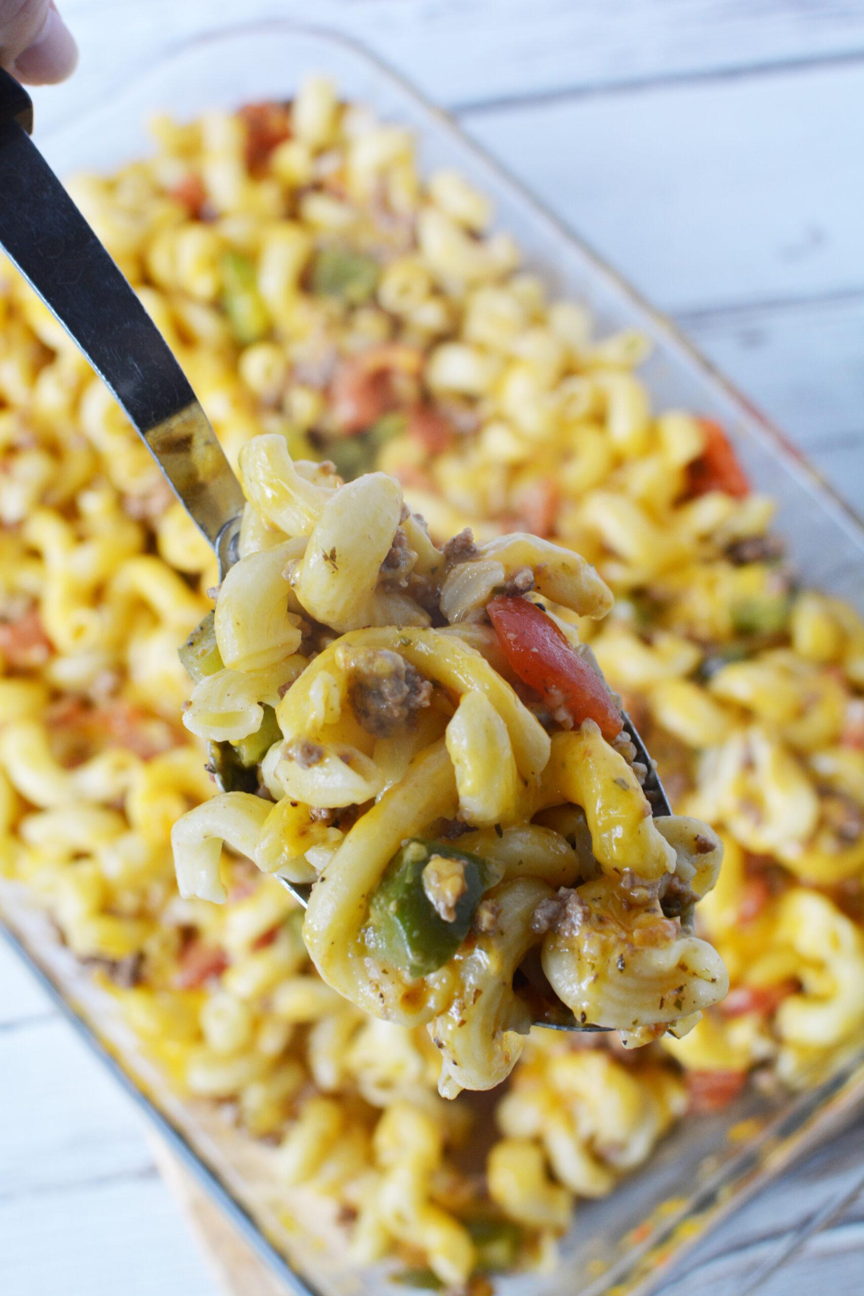 beef and macaroni hotdish