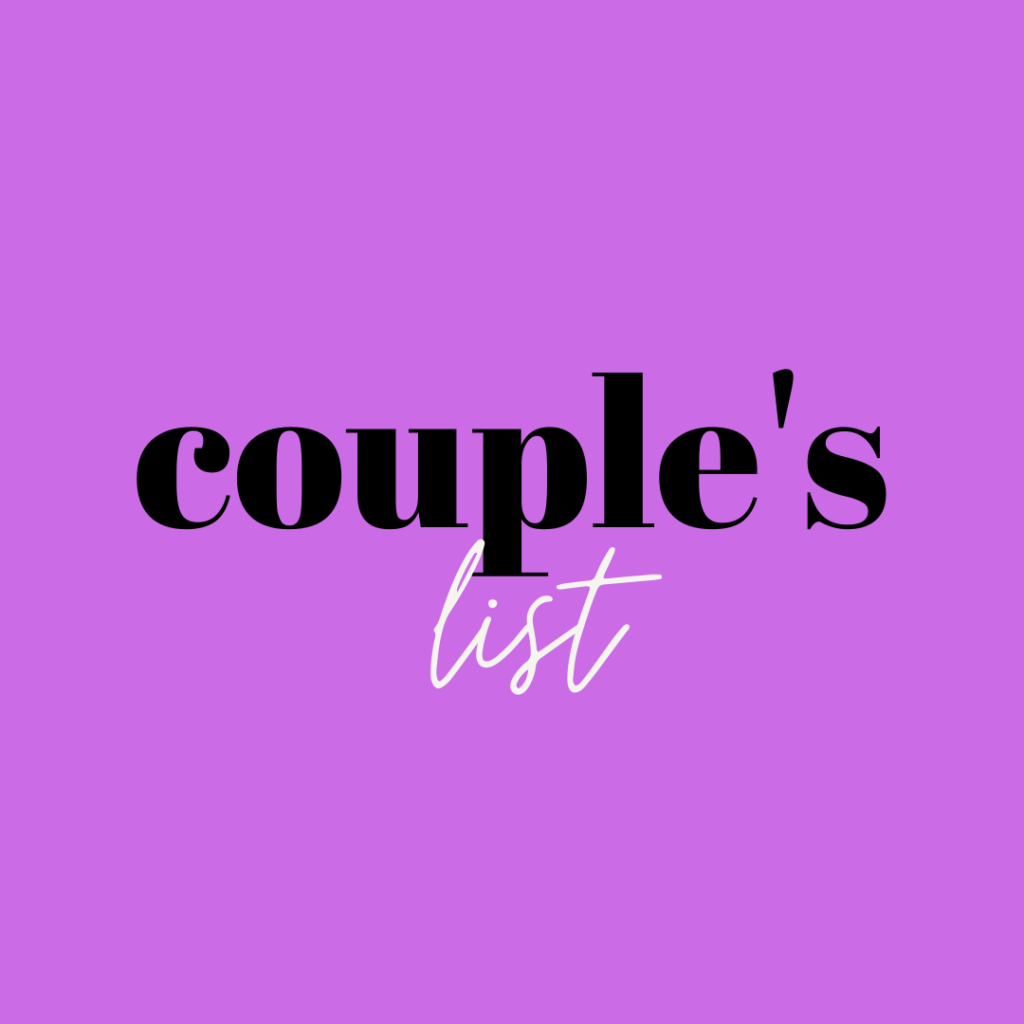 couple list of things to do