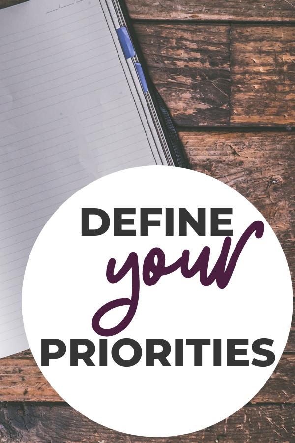 how to define your priorities