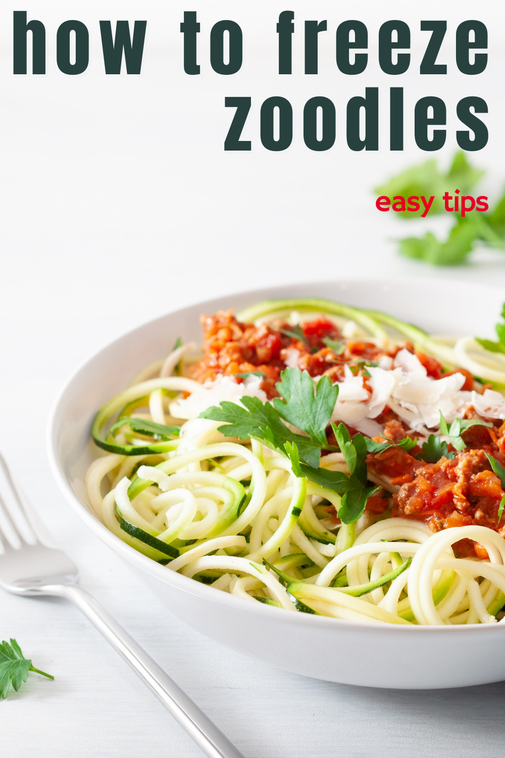 how to freeze zucchini noodles