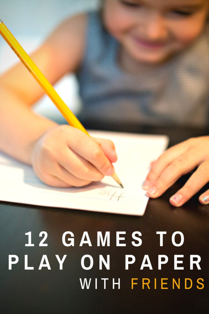 Games to Play With Pen and Paper