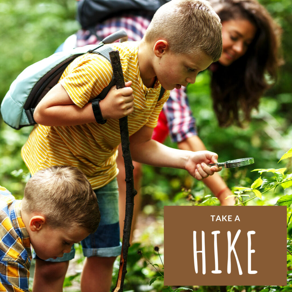 family hike activity in the fall