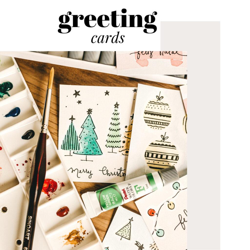 keep stacks of greeting cards