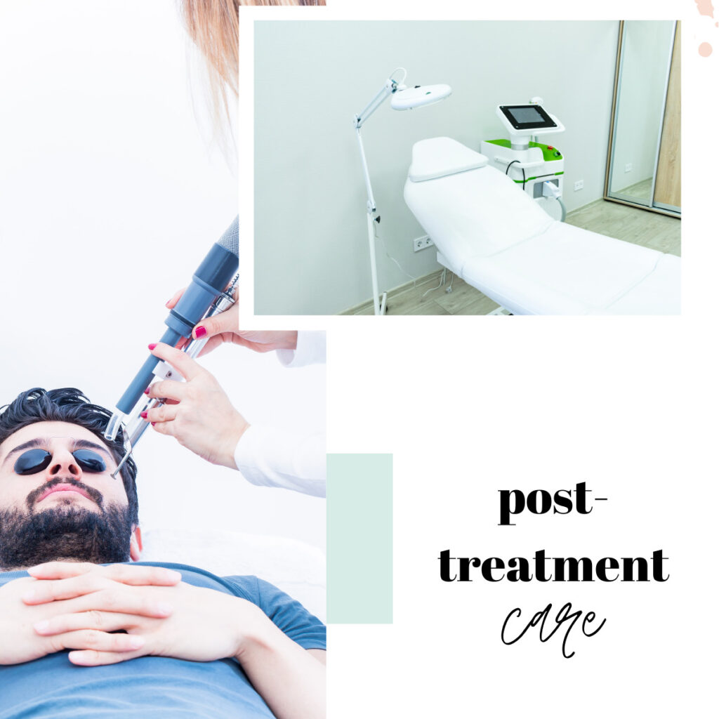 post treatment care laser