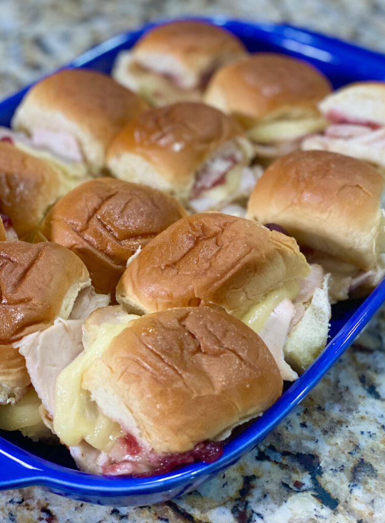 Leftover Hawaiian Roll Turkey Cranberry Sliders