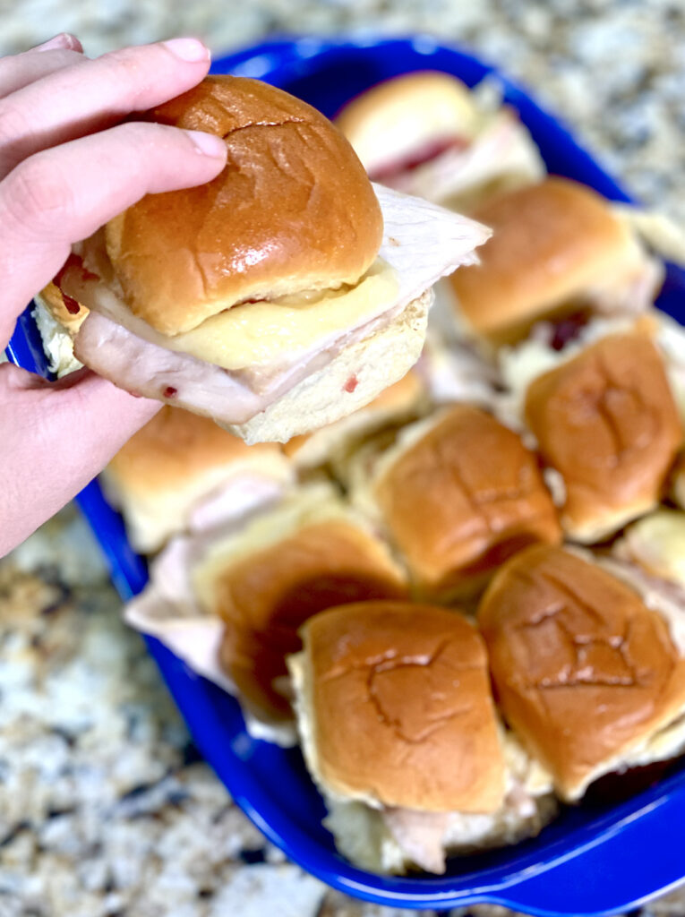 Leftover Turkey Cranberry Sliders