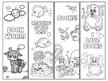 black and white bookmarks