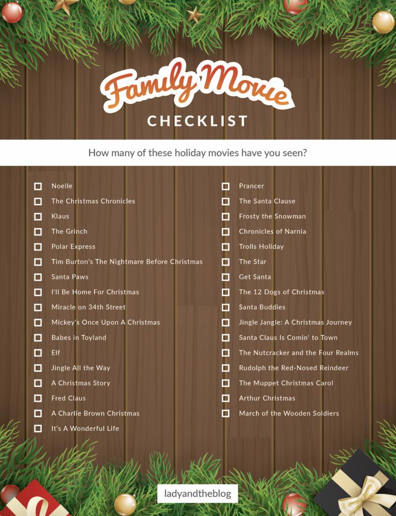 family movie checklist