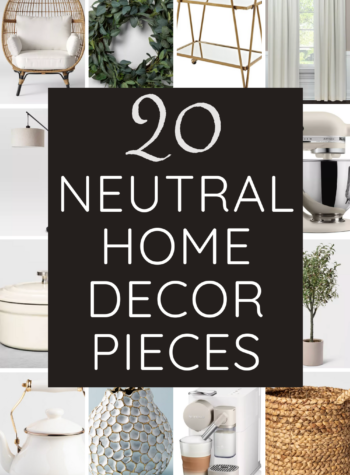 neutral home decor pieces