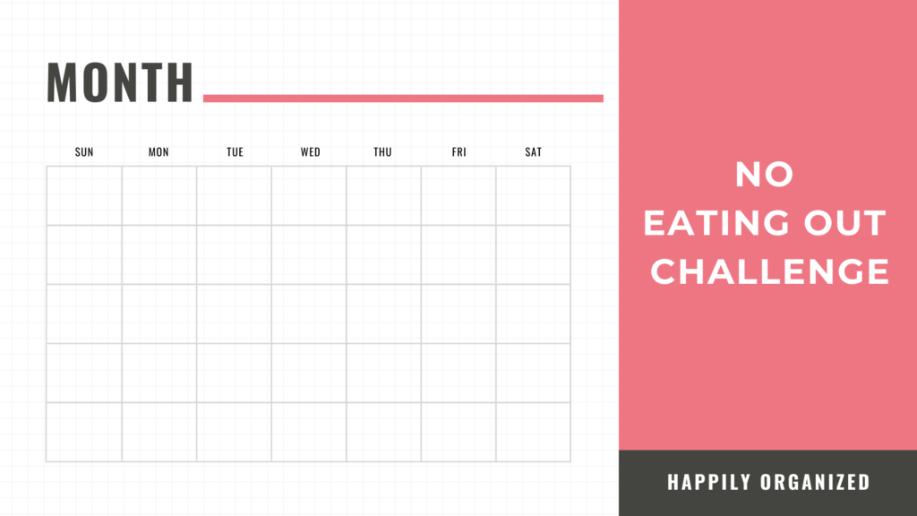 no dining out challenge printable