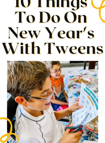 things to do on new year's eve with tweens