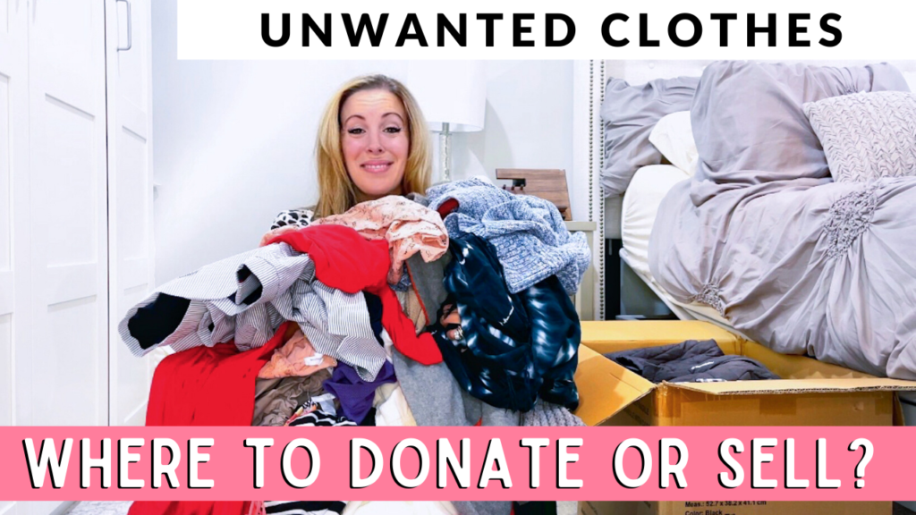 what to do with unwanted clothes