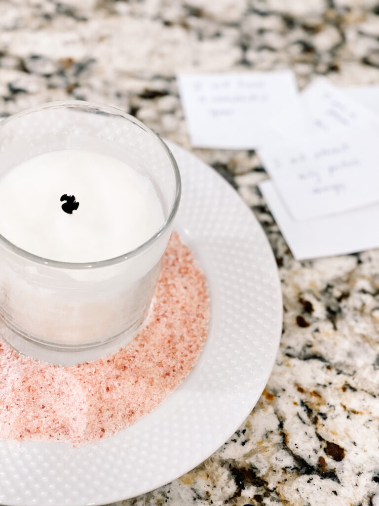 white candle energy cleanse