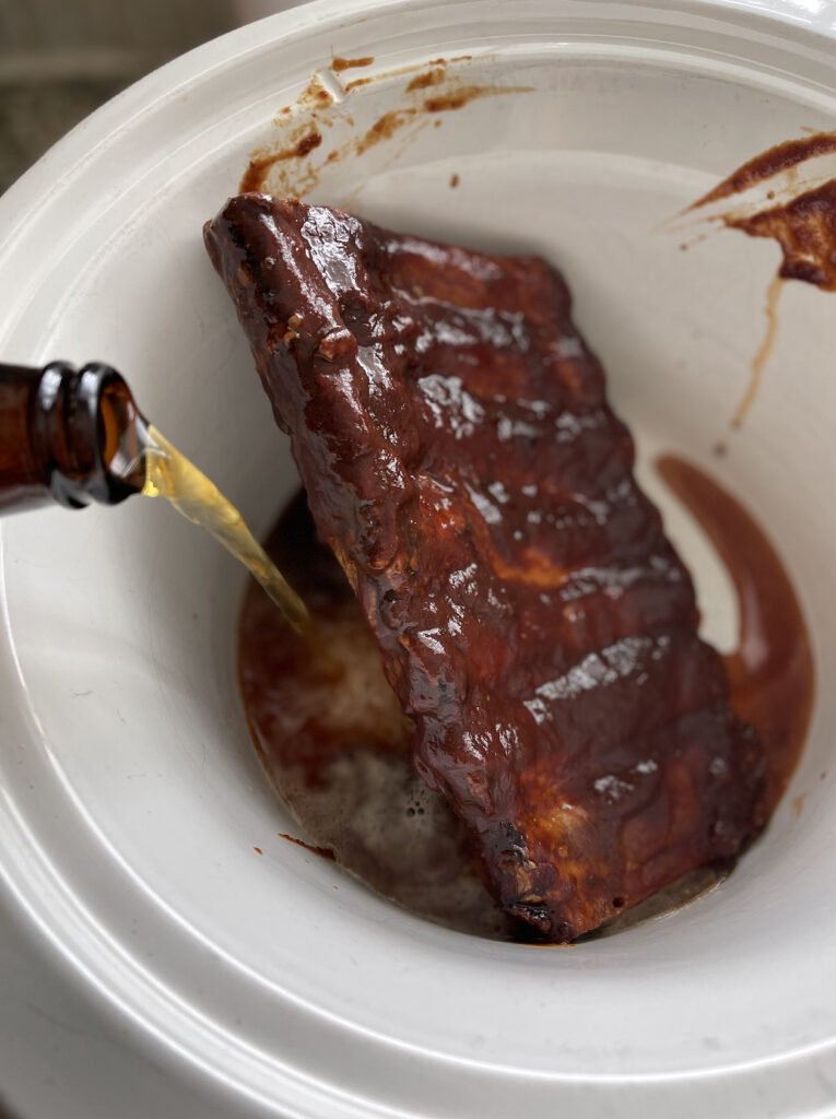 beer ribs in slow cooker