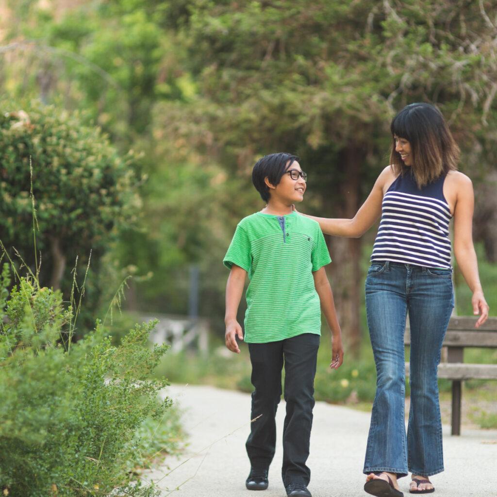 Wandern mit den Eltern