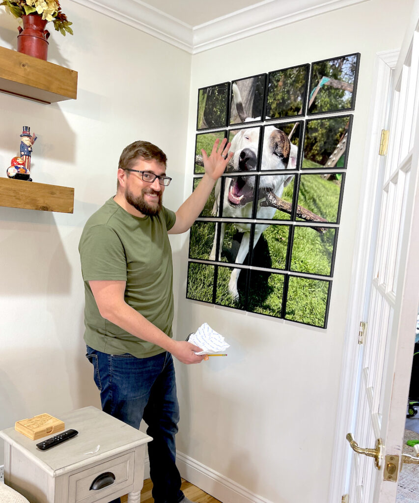 stickable photo tiles for the wall