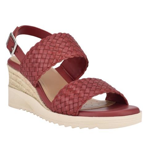 Martha Stewart Zuri Wedge Sandals in Red