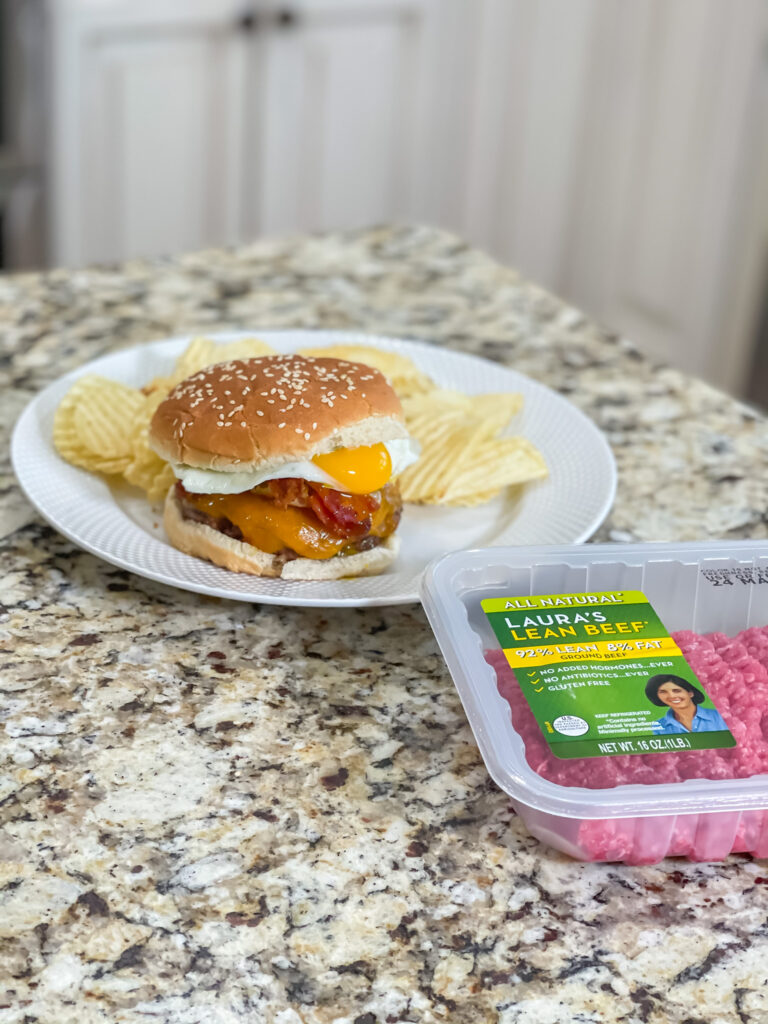 how to make a egg and bacon burger