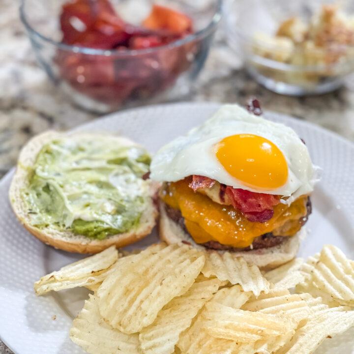 morning egg and back hamburger