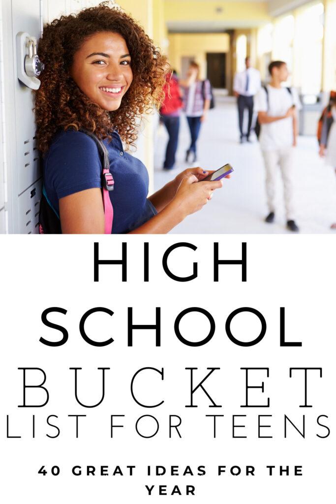 High School Bucket List For Teens