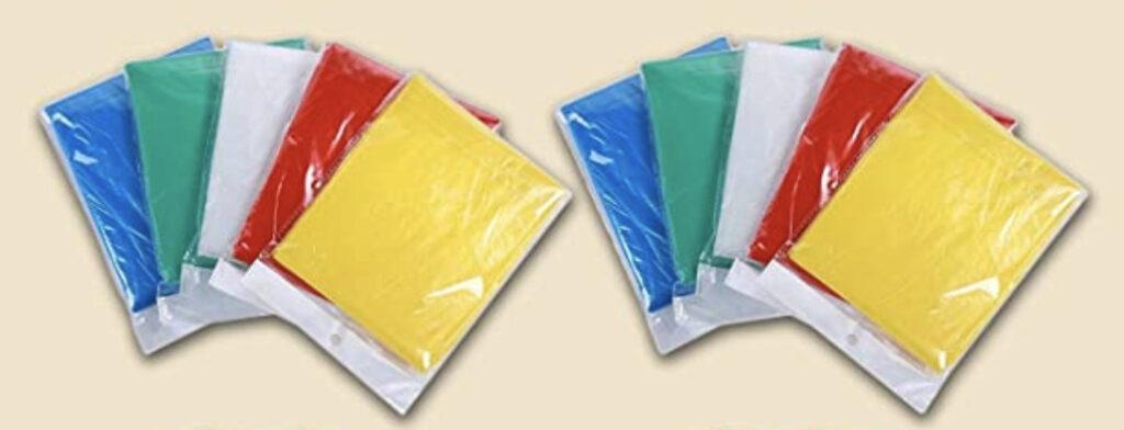 20-Pack Disposable Rain Ponchos